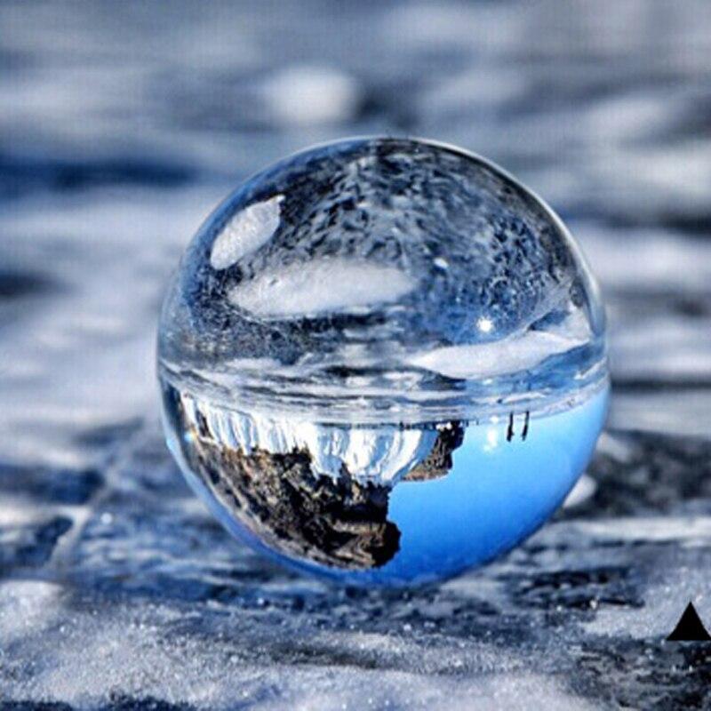 Bola de cristal transparente de decoración casera clara de la esfera de...