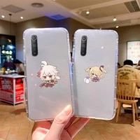 genshin impacts game cute phone case for samsung s7 8 9 10 lite 20 note20 a71 21 4 5 6edge fundas coque phone case