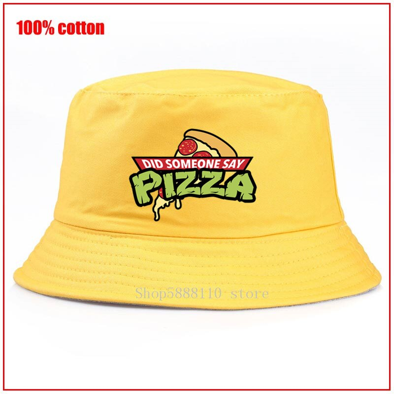 Pizza Time Did Who Say, мужская шляпа-Панама, женская летняя Панама с рисунком, Кепка-ведро, шляпа Боба в стиле хип-хоп, рыболовная шляпа в рыбацком сти...