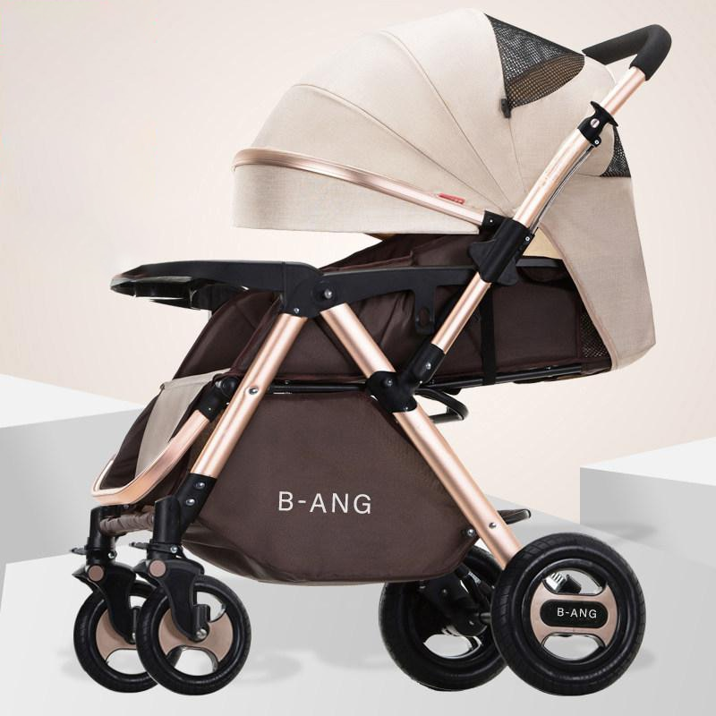High landscape Baby stroller Two way baby carriage Can Sit On A Reclining Light Folding Four-wheeled carrige newborn pram