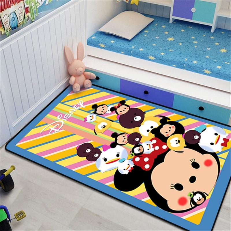 80x160 см детский игровой коврик Disney с Микки Маусом, нескользящий кухонный коврик, Детский напольный коврик, коврики для мальчиков, спальни, де...