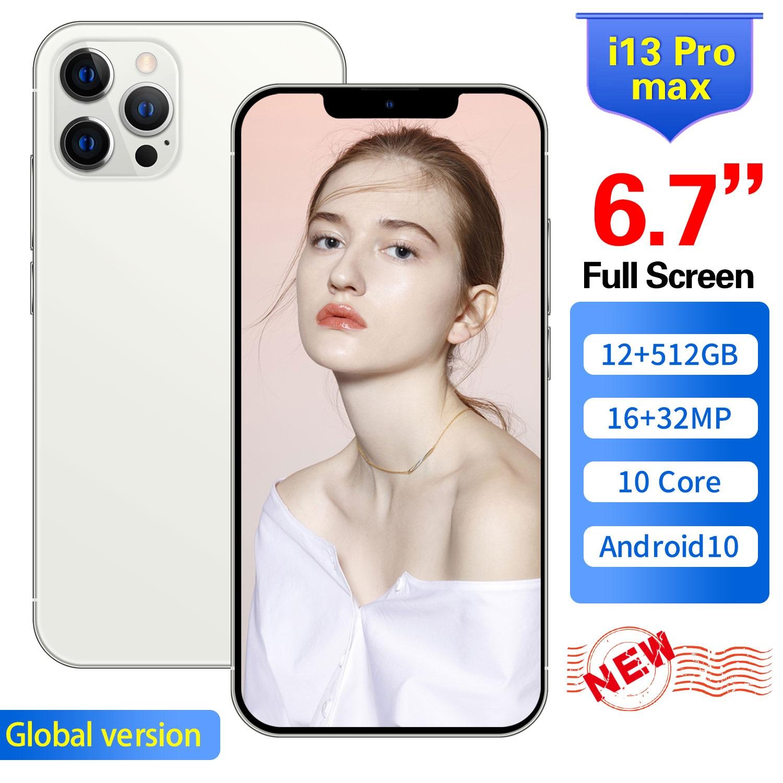 الإصدار العالمي من الهواتف المحمولة i13 Pro Max بشريحتين 6.7