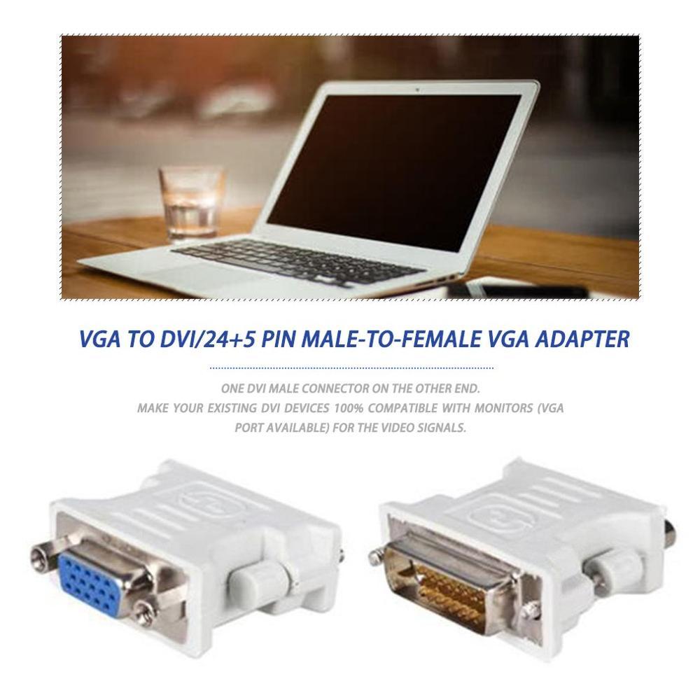 Новый DVI/24 + 1 Pin DVI к VGA Мужской к женскому видео гнездо адаптер конвертер VGA к Pin адаптер конвертер для ПК ноутбука ТВ PS3 PS4