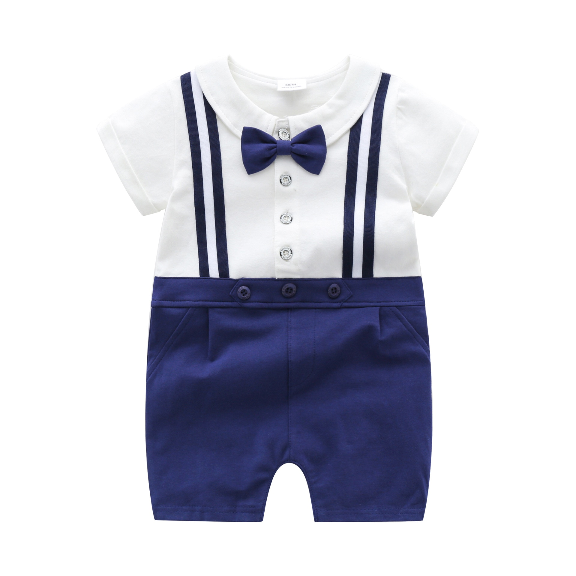 Yg brand children's clothing 2021 summer new baby boy's strap and tie one-piece clothes for going ou