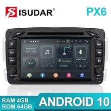 Isudar-lecteur multimédia voiture PX6 2 Din   Android 10, GPS pour Mercedes/Benz/CLK/W209/W203/W208/W463/Vaneo/Viano/Vito DVR