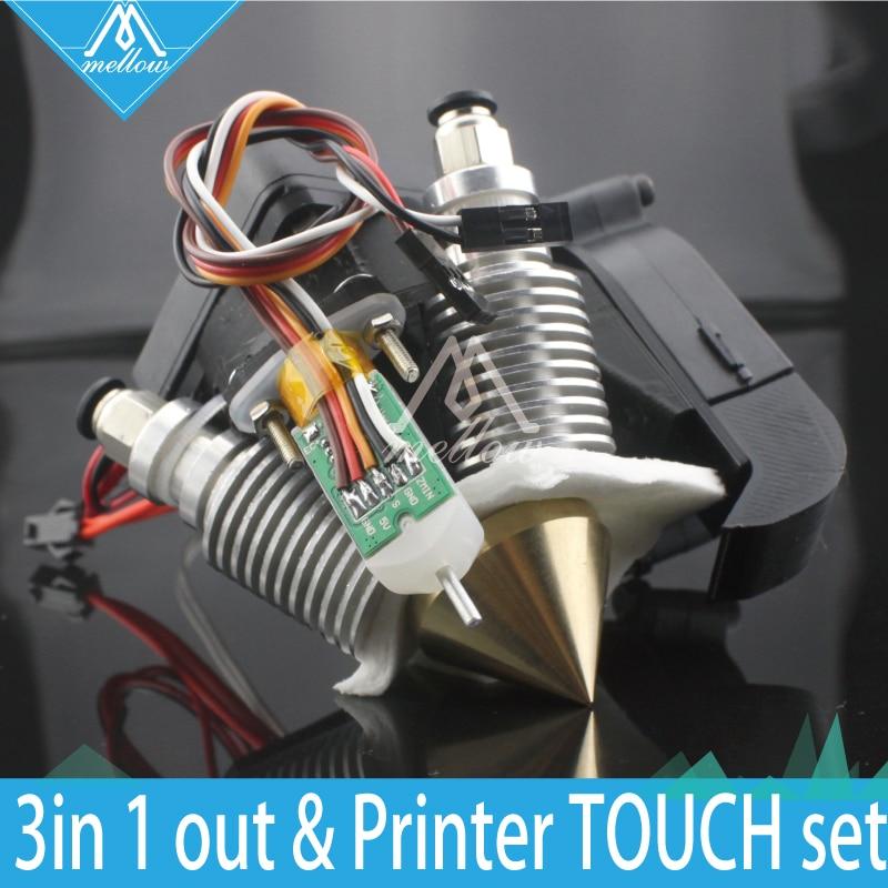 Mellow 3D Printer Diamond Hotend Brass Multi Color Nozzle hot end 0.4mm/1.75mm for I3 Extruder fan kit + Auto leveling sensor
