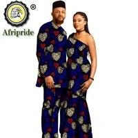 african clothes for couple clothing women maxi dress men print shirt pant hat 3 piece set dashiki outfits ankara attire s20c016