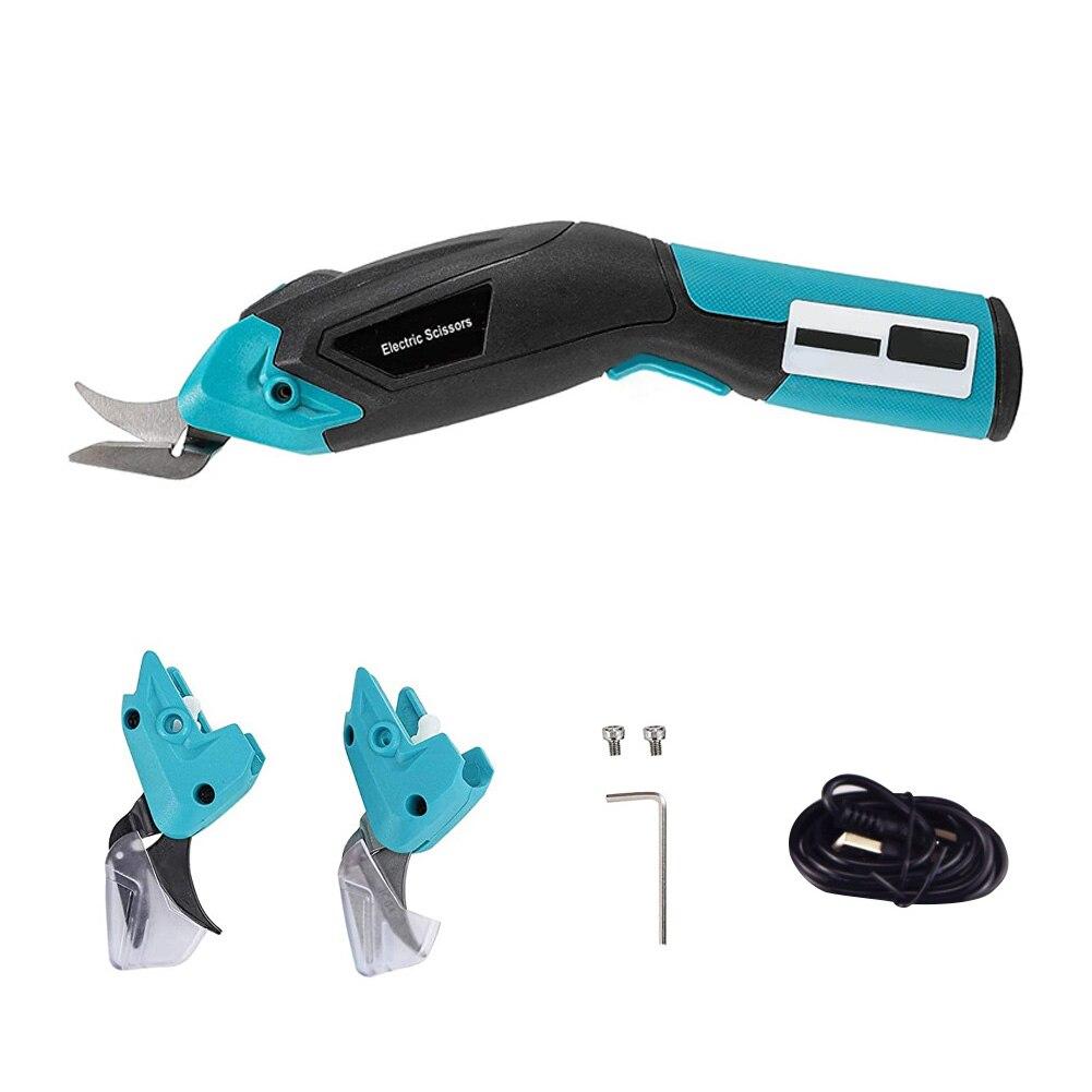 3.6 فولت مقص لاسلكي المحمولة الكهربائية USB المحمولة قابلة للشحن القص القماش القاطع ماكينة تقطيع قماش عدة باليد