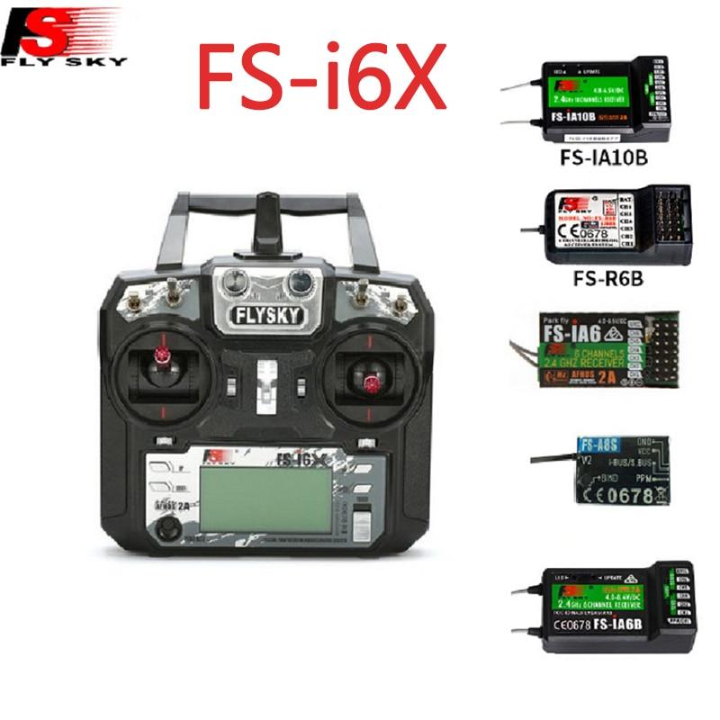 Flysky I6X FS-i6X 10CH 2.4G AFHDS 2A RC الارسال التحكم مع FS-iA6B FS-iA10B FS-X6B FS-A8S IA6 A8S استقبال ل Rc طائرة