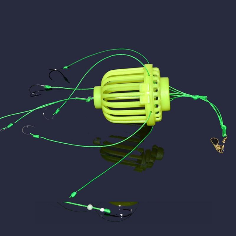 Fluorescent lumineux lancer pêche calmar crochet calmar groupe eau Explosion crochet eau Mine pêche Cage bombe crochet YS-B