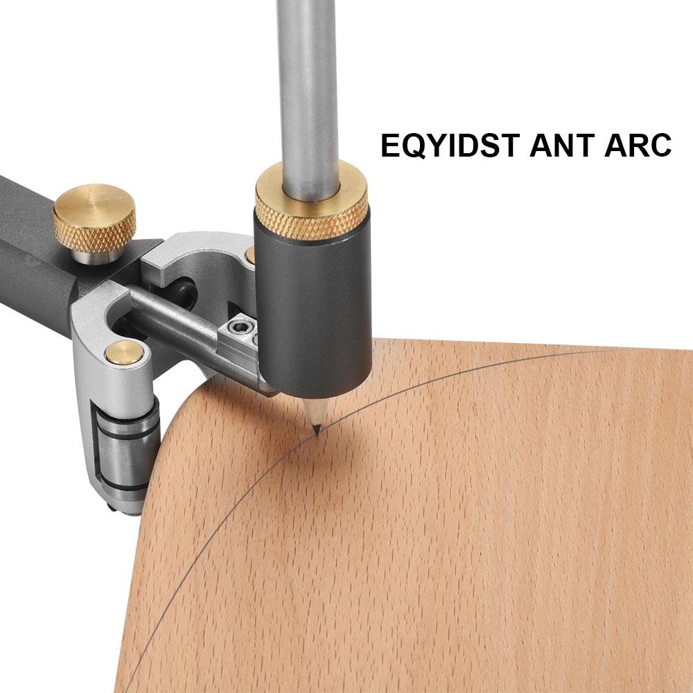 Woodworking Scriber Tool Linear Arc Measuring Marking Gauge DIY Parallel Line Drawing Scrib Tools