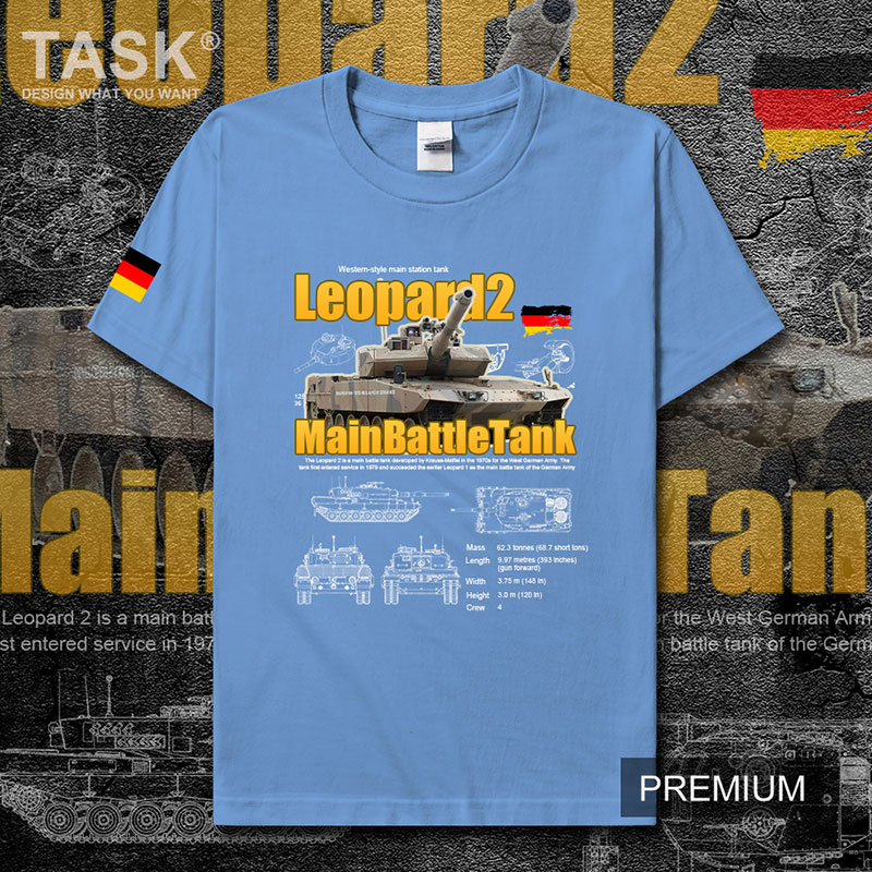Leopardo alemán 2 tanque principal de batalla Leopardo 2 Guerra Mundial ejército militar hombres camiseta hombres marcas deportivas tops ropa de verano