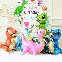 4d dinosaur foil balloon walking animal balloons kids boy toy theme dinosaur birthday party decoration supplies globos air ball
