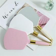 Vintage Handheld Makeup Mirror Hand Mirror Vanity Mirror SPA Salon Makeup Vanity with Handle Cosmeti