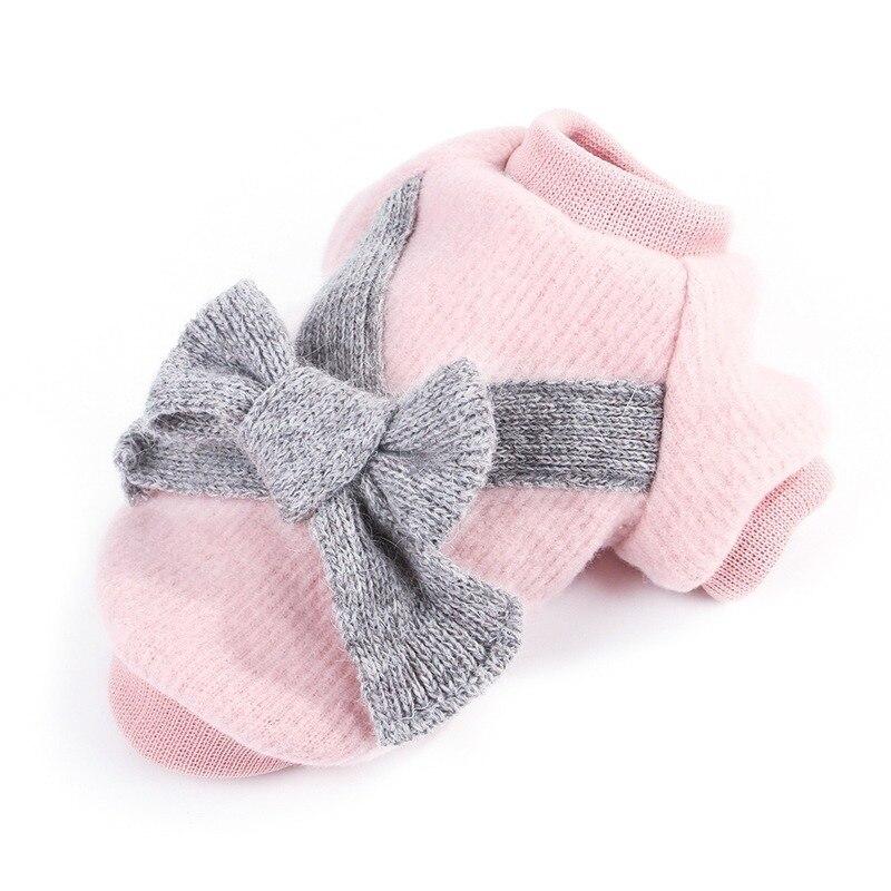 YooLook élégant chiens vêtements épaissir chaud chien vêtements Bow pull coton hiver doux pour petit moyen mignon chiens manteau XS-2XL