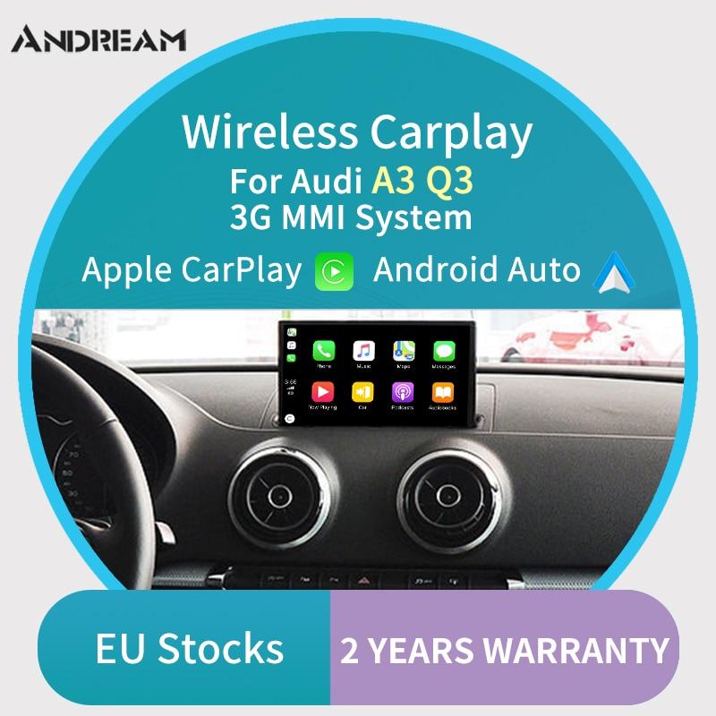 Беспроводная Carplay MMI Android автоматическая коробка интерфейса для AUDI A3 Q3 оригинальная Поддержка экрана зеркальная ссылка Aftermarket камера