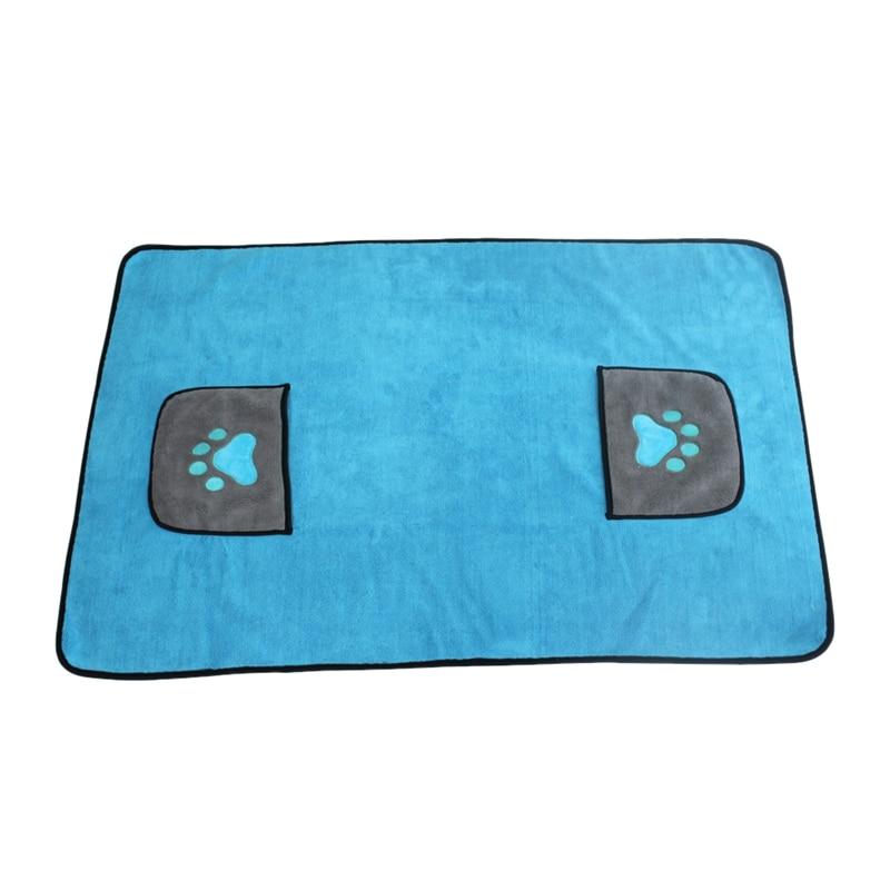 Toalla suave de baño para perros y mascotas, Toalla de microfibra ultraabsorbente de gran tamaño de secado rápido para perros pequeños medianos grandes