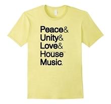 Men t shirt Peace Unity Love House Music Ampersand Helvetica Tshirt-RT Women tshirts