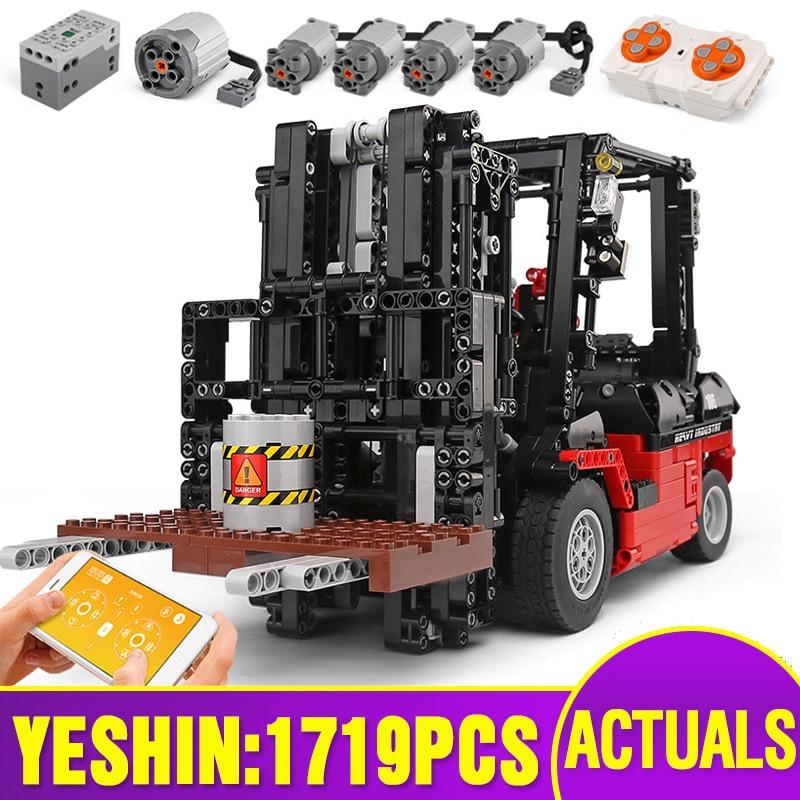 Yeshin Technic Motor Car Toys The Lepining 3681 Motor Forklift Mk II Assembly Toys Kids Christmas Gifts Building Blocks Bricks