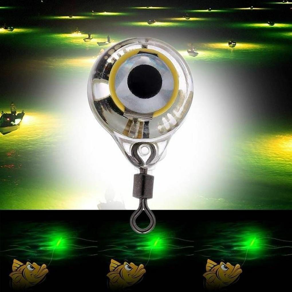 100 PCS Mini Fishing Lure Light LED Deep Drop Underwater Eye Shape Fishing Squid Fishing Bait Luminous Lure for Attracting Fish enlarge