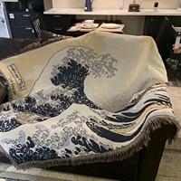 japanese surfing waves sofa blanket blanket art izakaya home decorative blankets for beds tapestry picnic blanket for couch