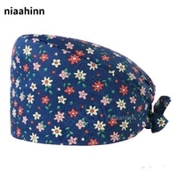 Wholesale 100  Cotton Medical Caps Hospital Surgical Operating Room Hats Pet Doctor Nurse Accessories Dental Clinic Surgical Hat