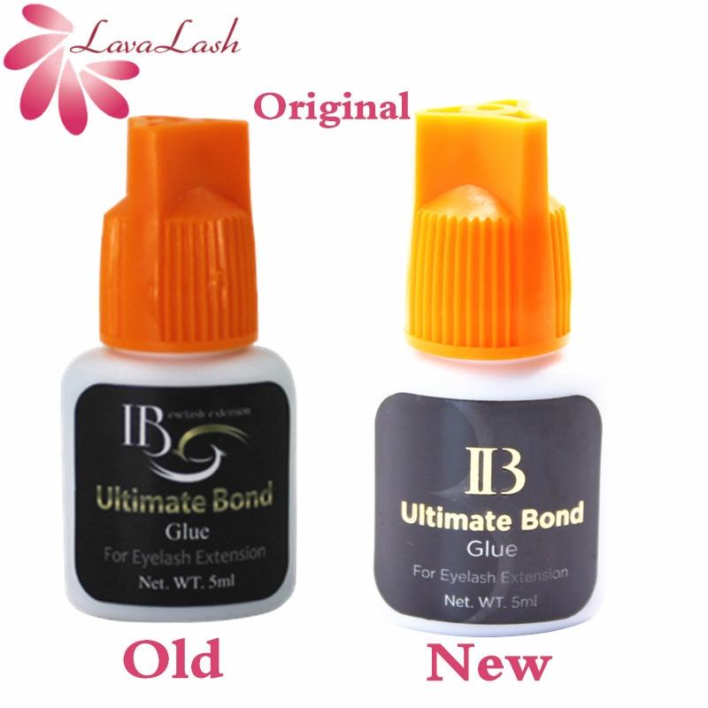 Free Shipping i-beauty 1 bottle Korea IB Ultimate bond Glue Individual eyelash extensions glue orange cap 5ml False eyelash glue