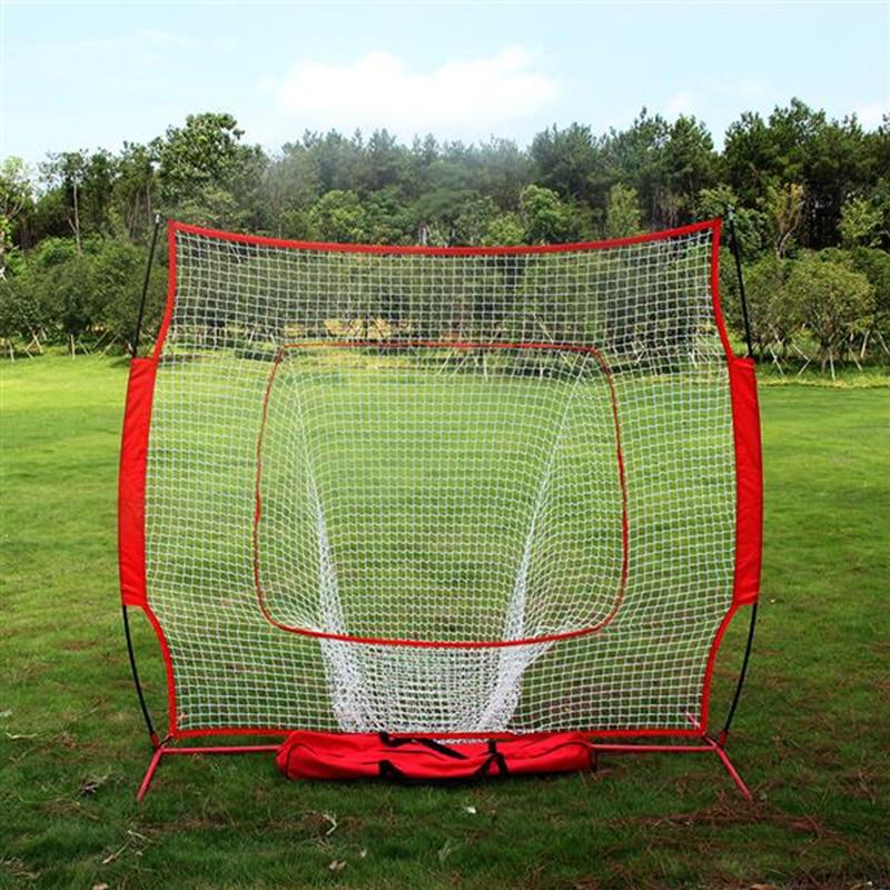 Softball Baseball Practice Net with Frame Tools Hitting Pitching Batting Catching Backstop Equipment Training Aids Strike Zone
