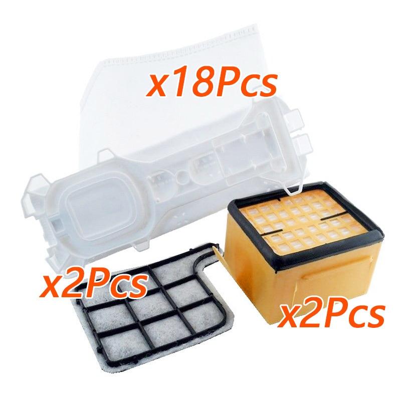 22 Uds se adapta para Vorwerk Kobold 135 136 35 SC VK 135 VK 136 filtros de bolsas reemplazos conjunto de piezas de limpiador