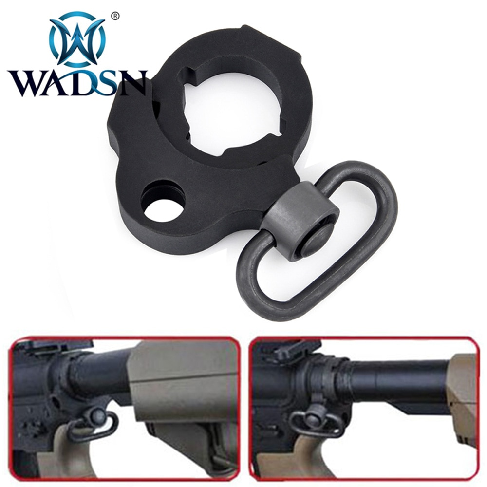 WADSN Тактический PWS стиль черный Ambidextrous сток Трубное кольцо для слинга pws сток база слинг адаптер для M4 AEGS аксессуары для охоты