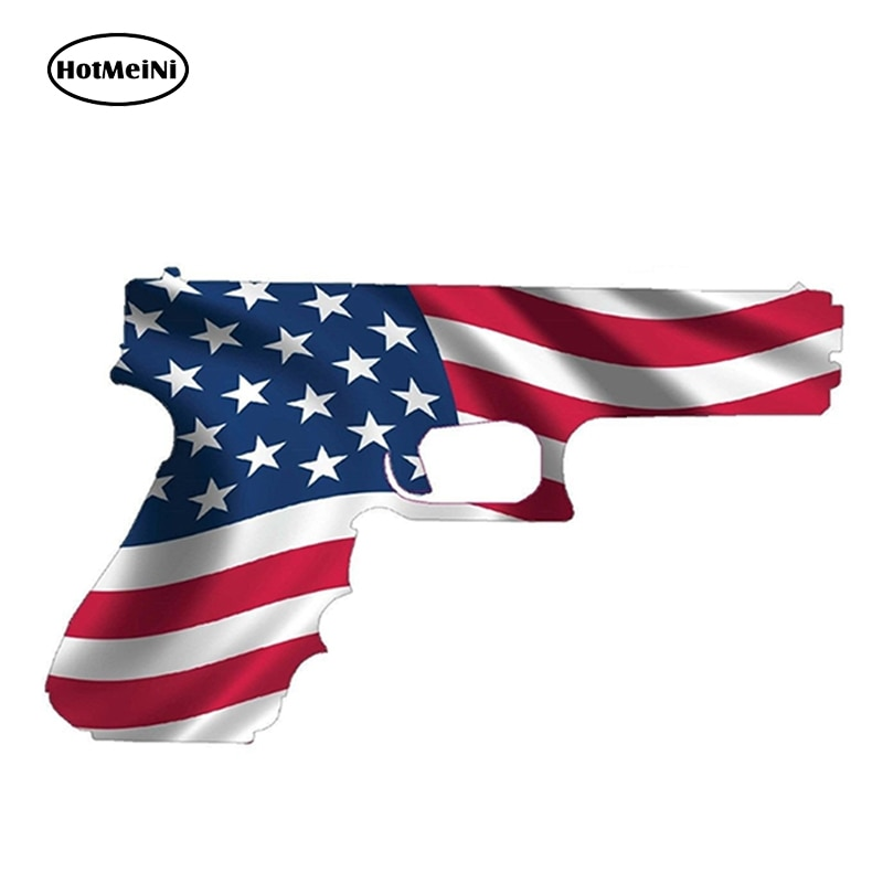 HotMeiNi, 13 см x 7,7 см, американский флаг, пистолет США, права, 2-е изменение, наклейка, Ругер, виниловый стикер, автомобильный Стайлинг