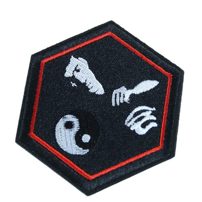 Bruce Lee-Badges darts martiaux   2 pièces, patchs brodés appliqués sur les vêtements, décoration de couture pour bricolage