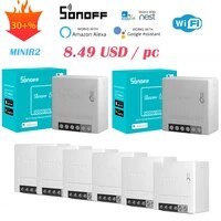 Official Authorized 30PCS SONOFF MINIR2 Wifi DIY Mini Switch Timer Smart Home Automation Compatible With Alexa Google Home