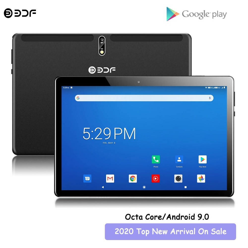 New Octa Core Tablet Pc 10.1 Inch Android 9.0 SC9863A 4G Network AI Speed-up Tablets PC Dual SIM Cards GPS WiFi Bluetooth Type-C