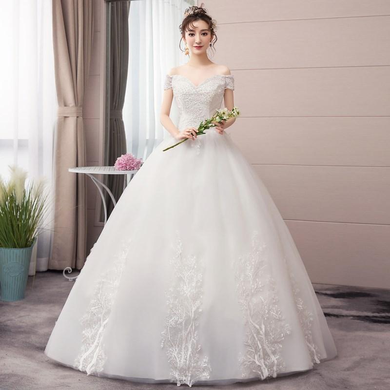 فستان زفاف من الدانتيل ، رقبة على شكل v ، أكتاف عارية ، أنيق ، مجموعة جديدة 2021