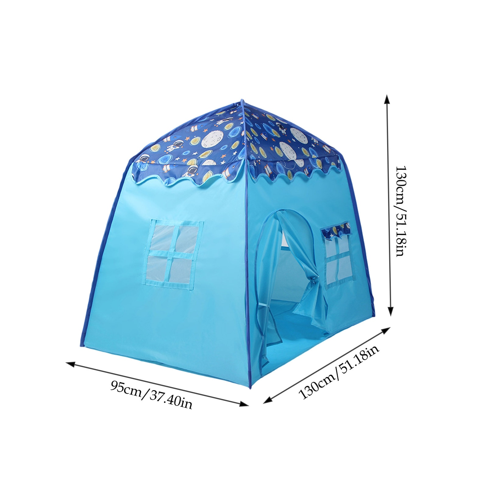 Kids Space Castle Playing Tent With Windows Indoor Princess Indoor Playing Playhouse Tent Gift For Children  - buy with discount