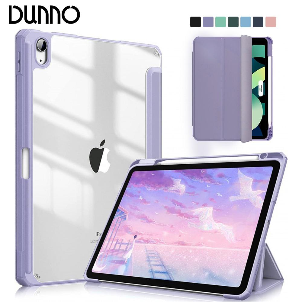 Чехол для iPad 2021 Mini 6 Pro 11 9 поколения, чехол 10,2 2018 9,7 5/6th Air 2/3/4 10,5 10,9, полиуретановый силиконовый прозрачный чехол, чехол чехол