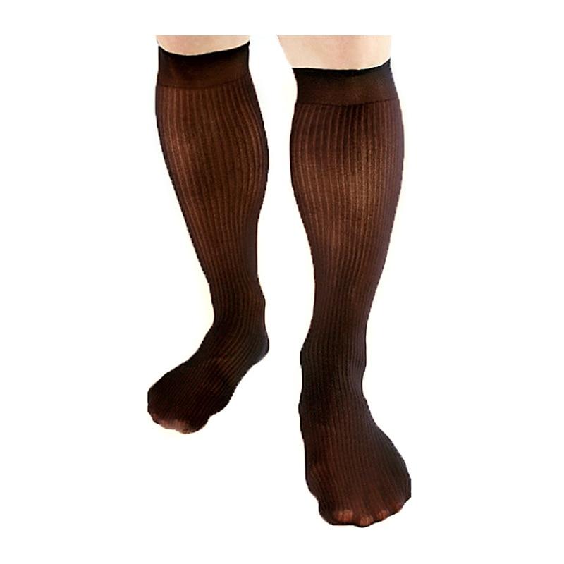 Для мужчин шелковые чулки пикантные носки мужские чулки мужской носки длиной до колена, Чулки с эластичным бортом