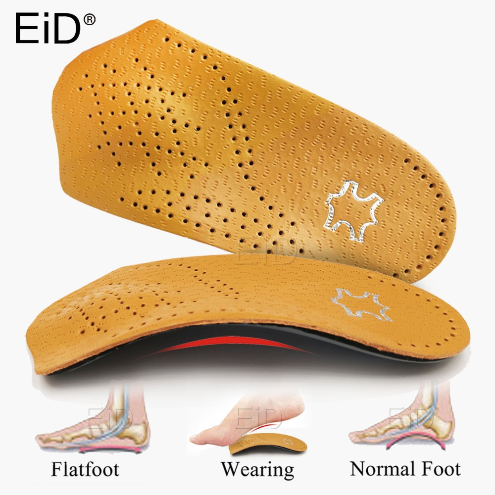 EiD Leather Orthopedic Insoles Orthotics Health Sole Pad For Flat Foot  Heel Pain Arch Support Man Woman Shoe insole sole Insert 1 pair flat feet arch support insole silica orthotics superier breathable latex leather insole foot pad