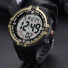 SYNOKE hommes montre numérique compte à rebours grand cadran Sport montres étanche noir homme militaire réveil montre militaire