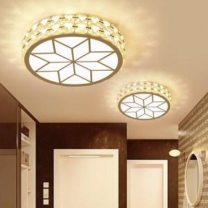 Crystal Led Ceiling Lights Modern Wooden Acryl Ceiling Lamp Surface Mount Flush Living Room Bedroom Light Fixture Foyer Kitchen