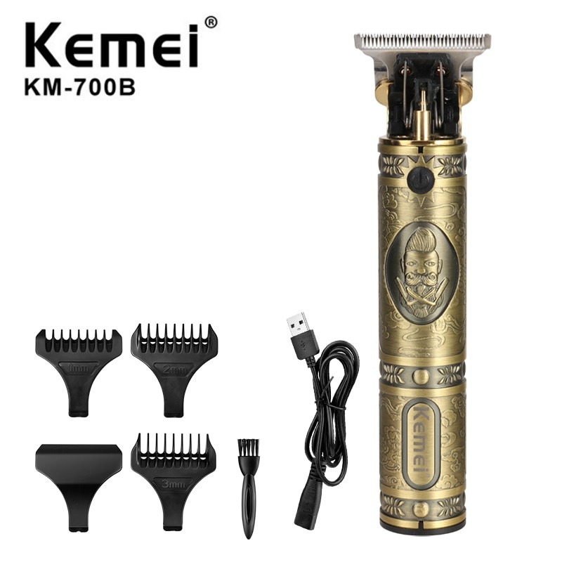Kemei محل حلاقة النفط رئيس 0 مللي متر الكهربائية الشعر المتقلب المهنية حلاقة حلاقة نحت الشعر اللحية آلة تصفيف أداة الحلاقة