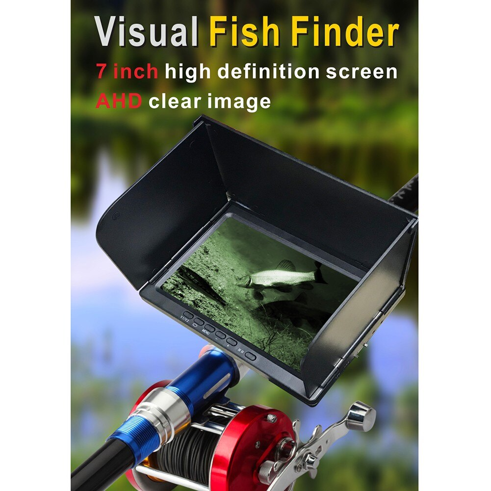 High-Definition Underwater Fish Finder 180° Fishing Camera Set 7 Inch Display Rechargeable Wireless Sonar Portable Fish Finder enlarge