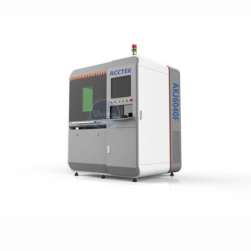 Carbon sheet metal fiber laser cutting machine AKJ6040F with Raycus fiber laser generator 1000W 750W