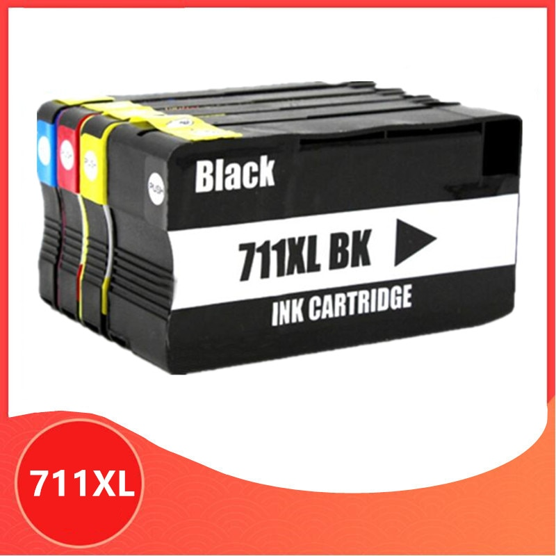 Remanufacturado para HP 711 711 XL para HP711 cartucho de tinta 711XL para DesignJet T120 T520 impresora CZ133A CZ130Z CZ131A CZ132A