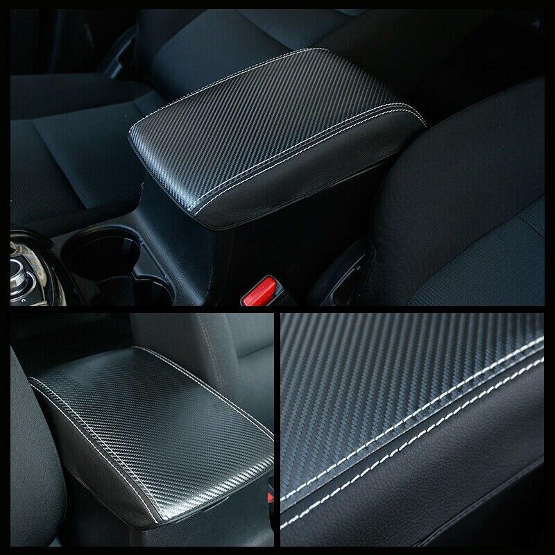 Carbon Faser Armlehne Box Abdeckung Für Mazda CX-5 CX5 2017-2019 Innen Ersatz Zubehör Zentralen Box
