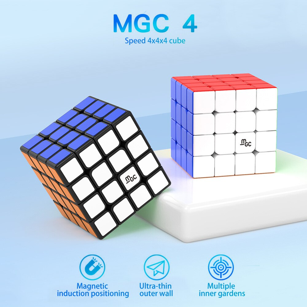 [Picube]YJ MGC 4x4 Speed Magic Cube Puzzle Cubo Magico Educational Toys For Kids Gifts - Stickerless