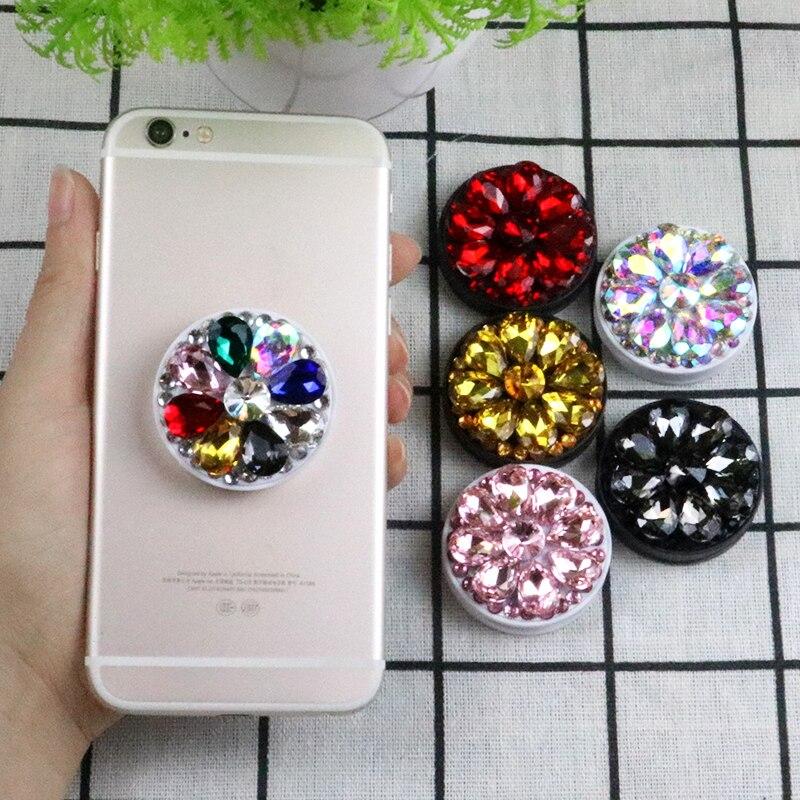 Soporte de teléfono Universal soporte 3D diamante colorido Airbag Teléfono para teléfono inteligente agarre coche anillo de soporte del teléfono toma de diamante