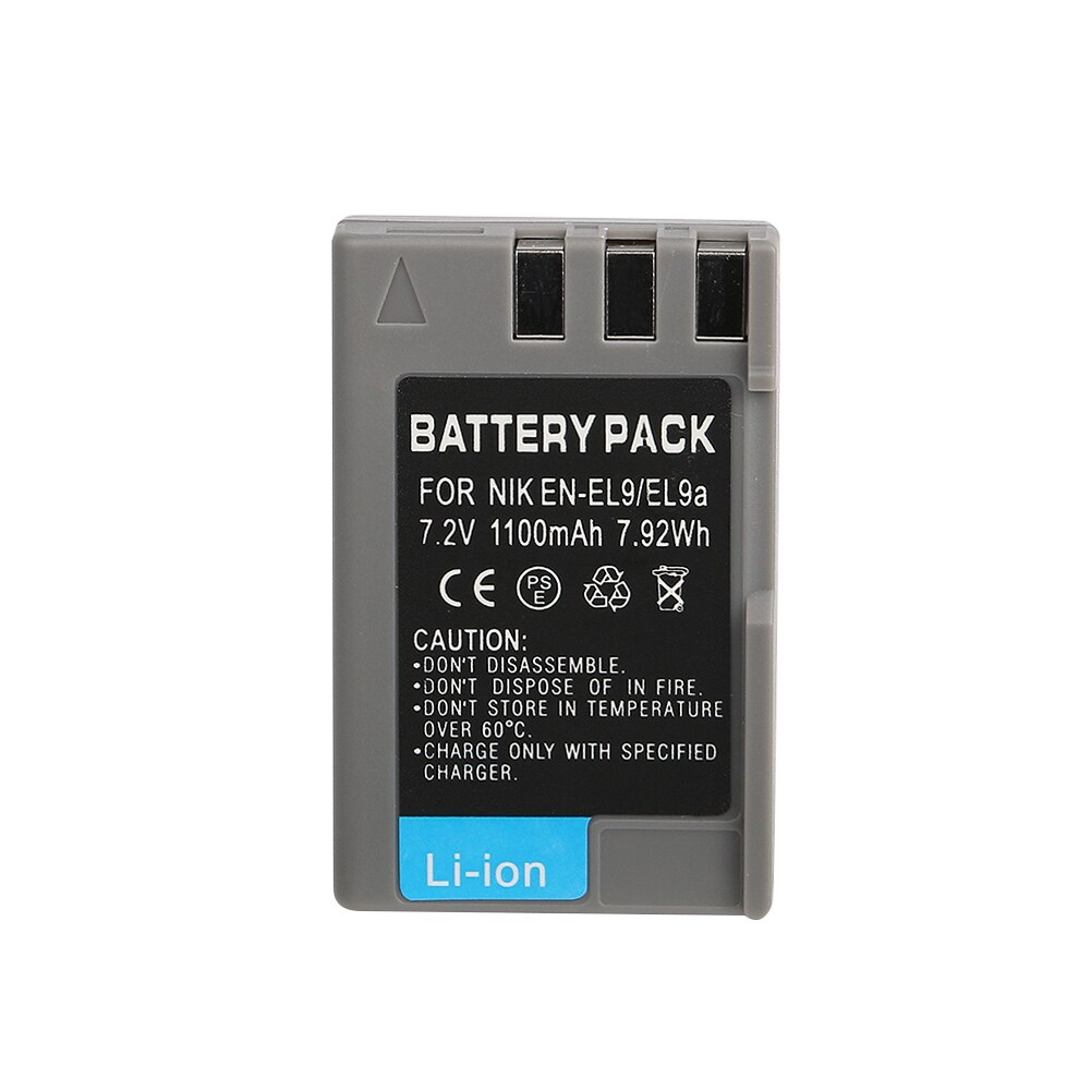 OHD Original 2000mAh EN-EL9 es EL9 EN-EL9a es EL9a EL9a batería para cámara Digital para Nikon D40 D60 D40X D5000 D300 L15