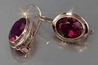 exquisite earrings fashion jewelry 18 k yellow gold filled natural red ruby diamond gemstones birthstone bride princess